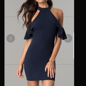 Navy blue cocktail/ homecoming dress